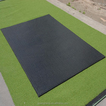 Recycled Rubber Horse mat Round DOT & Groove Pattern Stable Mats