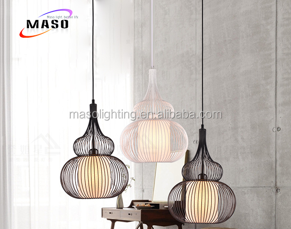Maso 2017 Hot sale iron material pendant lamp gourd shape metal pendant light MS-P4014B