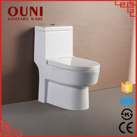 ON-811 Western style high quality ceramic washdown ivory color toilet
