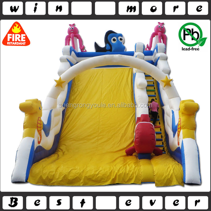 children playground character giant inflatable ocean slide for sale