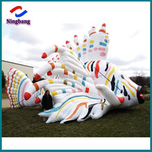 NB-CT20234 NingBang beautiful high quality giant inflatable tiger fishes for outdoor decoration