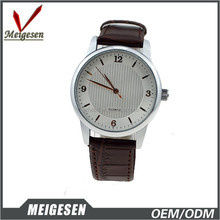 Fair price fine quality PU leather band quartz movt watch
