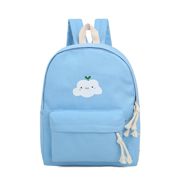 New Fashion 2016 Women Backpack Female Canvas Cloud Printing Backpacks Preppy School Shoulder Bags For Girls Mochila CB205
