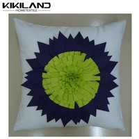 2015 Kikiland latest design sunflower embroideried outdoor cushion cover