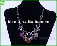 beaded necklace,fashion accessories jewelry crystal necklace necklace big heart