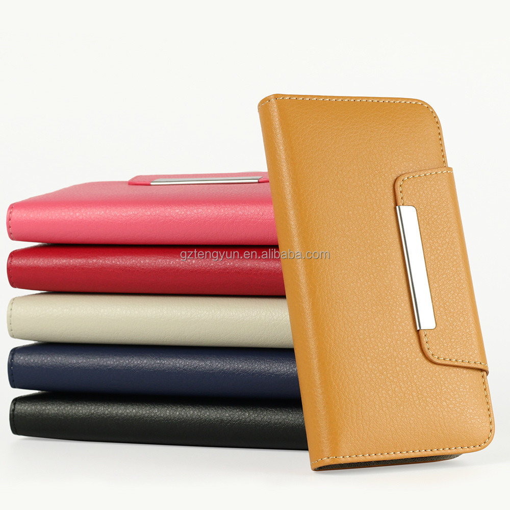 PU Leather Cover With Card Bag For Iphone 6/6 Plus Full Protect Wallet Case