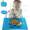 FDA/LFGB Approval silicone placemat and tray for babies kids suction silicone baby plate wholesale Dishware Safe Microven Safe