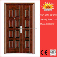 Rock wool filled steel fire door with panic push bar SC-S023