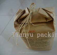 food packaging wheat flour packaging paper bag with handle