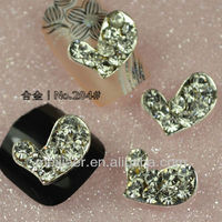 Beautiful Bow Tie Fashion Nail Art 3D Alloy Glitters Rhinestones