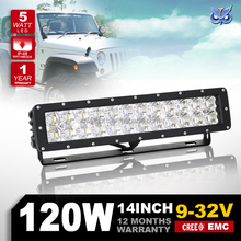 Auto spare parts 12v led lights 120w led light bar flood/spot led driving light for truck jeep SUV ATV 4X4 offroad