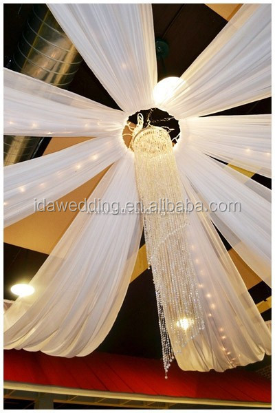 stretch ceiling fabric/shenzhen ceiling decoration/ceiling drapery for wedding event