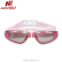 Tropical novelty clear photo pc lens mirrored training swimming goggles for adults