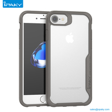 China Good Ipaky Plastic Tpu Frame Back Cover Transparent Case Mobile Phone For Iphone 7 7Plus