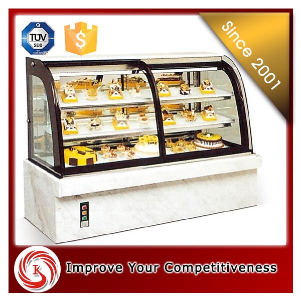 Hot sale glass bakery display cabinet cake refrigerator display