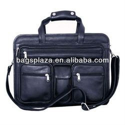 Alibaba china express computer laptop bags genuine leather briefcase bags men bags