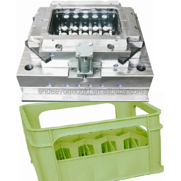 high quality plastic injection 24 bottle beer crate mould in huangyan taizhou