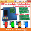 DHL Free 7 in 1 LCD Touch Screen Tester lcd Testing Board Frame Machine with 12pcs PCB Connector for iphone 4 4s 5 5s 5c 6 plus