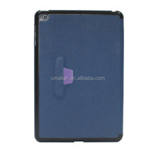 Hot Sale PU leather Cover Case For iPad Mini stand leather case