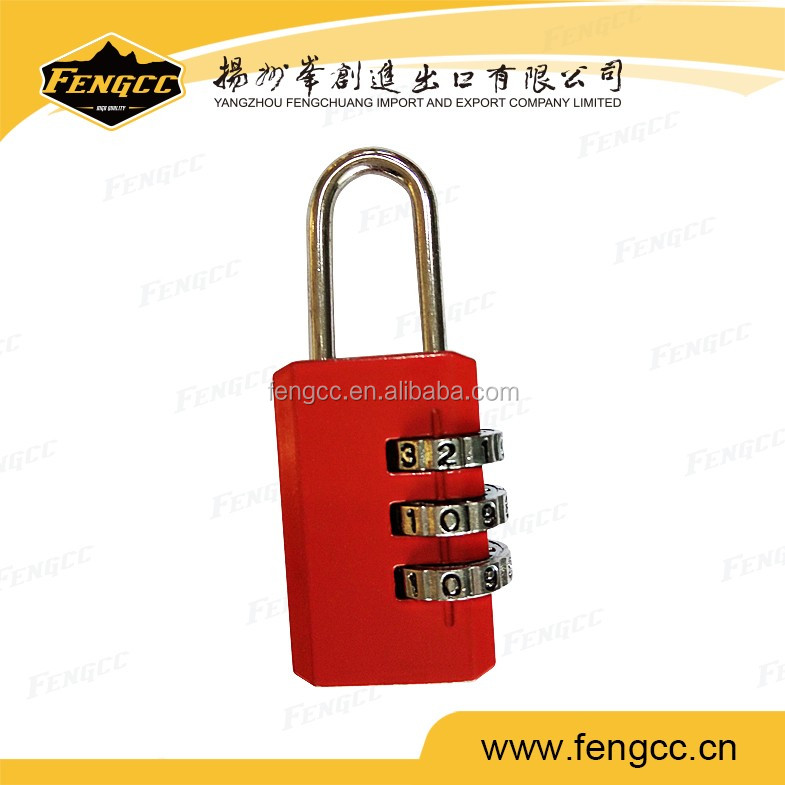Red color TSA code luggage lock password combination lock for international travel