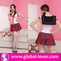 short dress costume sexy school girls