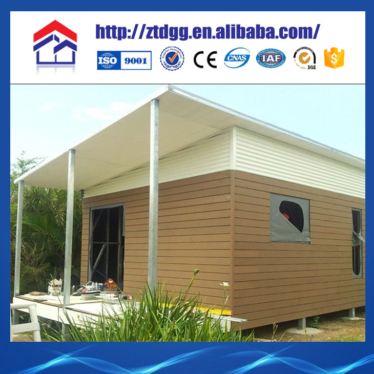Flexible dimountable prefabricated steel tiny house with perforated steel plank