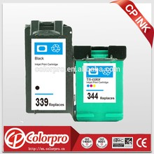 China factory supplier remanufactured ink for hp339 344 cartridges for hp Deskjet 9800 5740