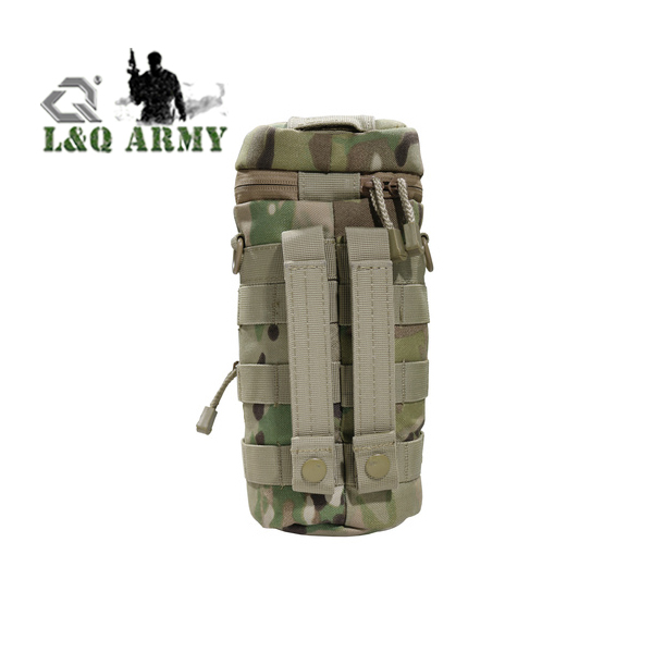 H2O Hydration Carrier with Accessory Pouch Sling Tactical Water Bottle Pouch