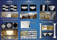 Gypsum Cornice Mould for Ceiling Decoration