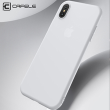 CAFELE New Design Ultra Thin Soft Flexible TPU Matte Phone Case for Iphone X /10 in 5 Colors for iphone 8/8plus