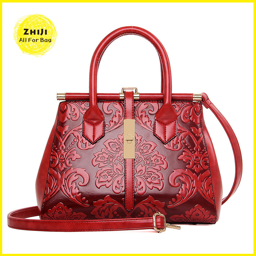 Customized New Fashion Sexy Ladies Leather One Piece Metal Accessories Leather Bag Women Bags 2016 Handbag