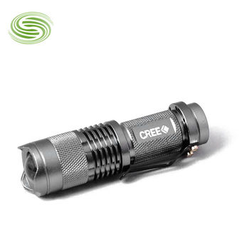 Wholesale - CREE Q5 Flashlight LED Rechargeable Flashlight Focus Zoom Flashlight Available on the 5th Battery