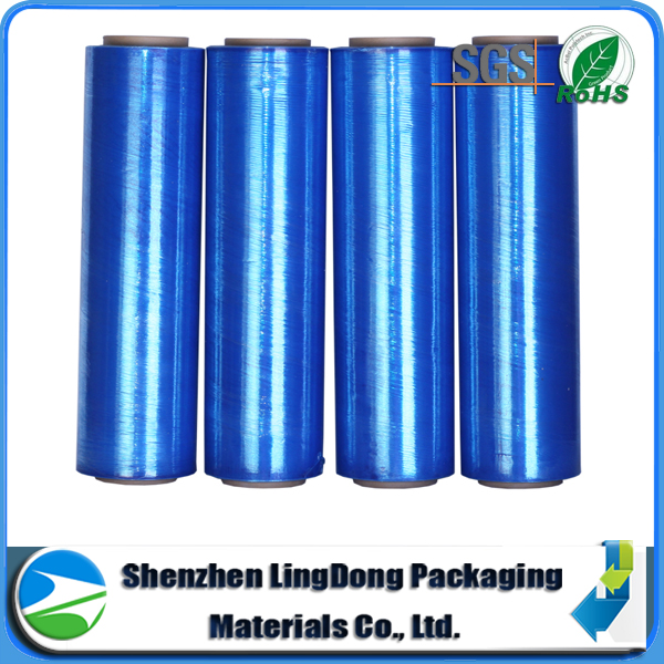 hot selling vivid blue stretch blow molding film&PE stretch wrapping film for machine used