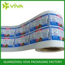 strong adhesive custom packing label sticker, custom printed roll honey bottle label