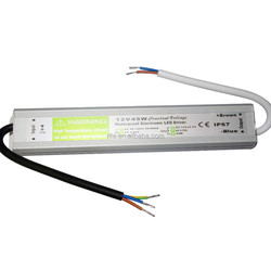 12V/3.75A/45W IP67 waterproof switch mode LED power supply;AC90-250V input;size:230*35*25mm