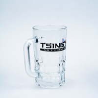 Top Quality Clear Glass Beer Mug 22OZ Sublimation Printing