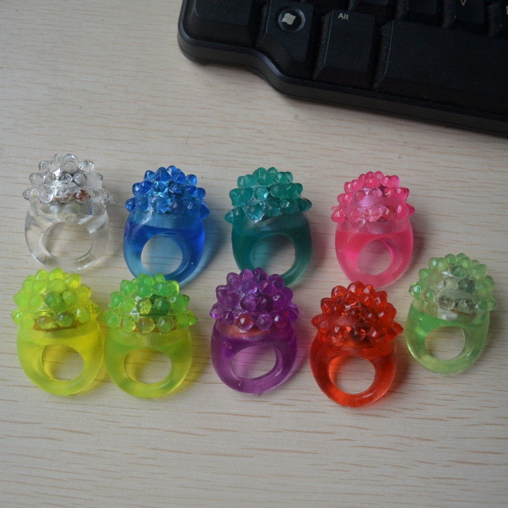 Soft Blinking light rubber bumpy led ring