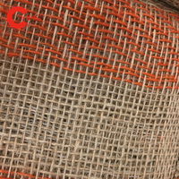 Net Cotton Blend Price Hessian Cloth Material Synthetic Burlap Heavy Colorful Linen Printed Jute Fabric
