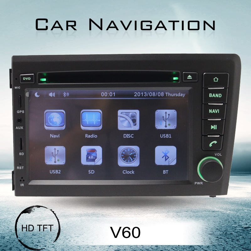 7 inch double din car radio volvo s60 v70 dvd gps navigation system tv tuner fm mp3 mp4 music player cd