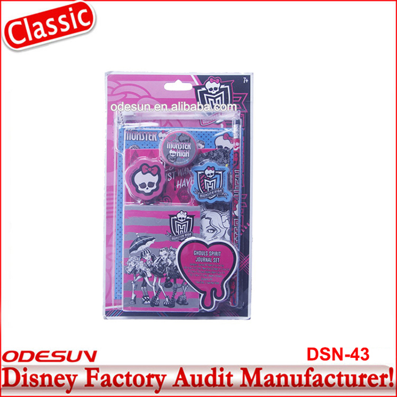 Disney Universal BSCI Carrefour Factory Audit Kungfu Panada Frozen School Monster High Stationery Set 15