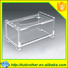 Factory price wholesale top quality tissue box holder for car, acrylic clear tissue box