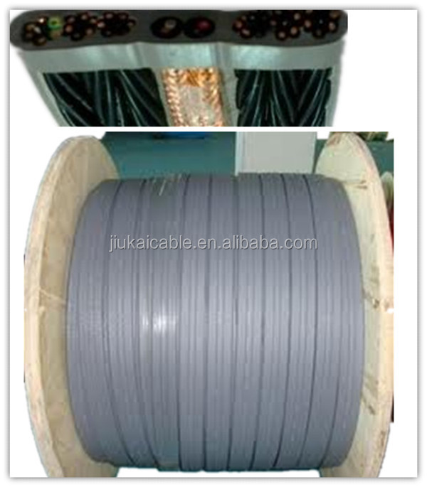 36 cores flat travel elevator cable with 2 pairs video cable 100%cooper Special PVC 75ohm CCTV elevator cable