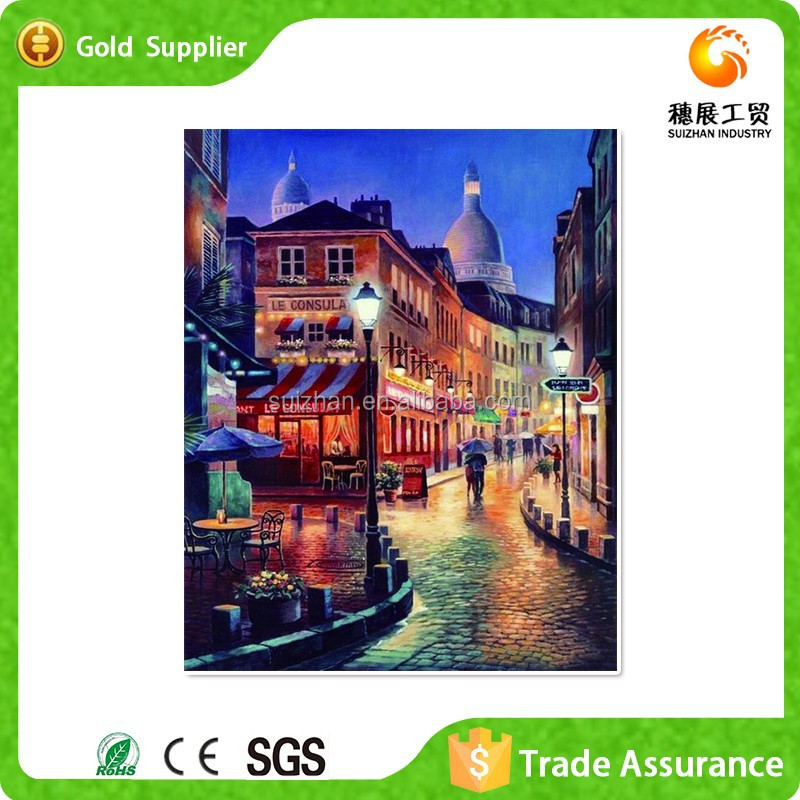 Customized Diy Painting Diamond Mosaic Embroidery Mediterranean Landscape Oil Painting
