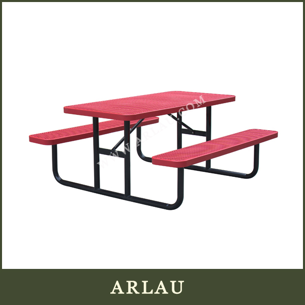 (TB-60) wholesale metal mesh picnic table, picnic table with mesh