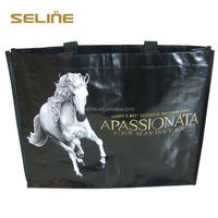 Beautiful and promotional laminated pp woven fabric tote bag