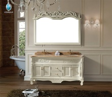 K-834 Made in China 1500mm creamy-white lowes double sink vanity