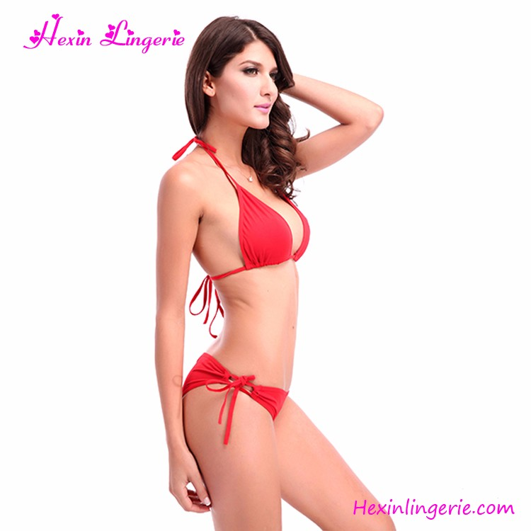 2017 Top Quality Factory Price Sexy Red Girl Swimwear Sale