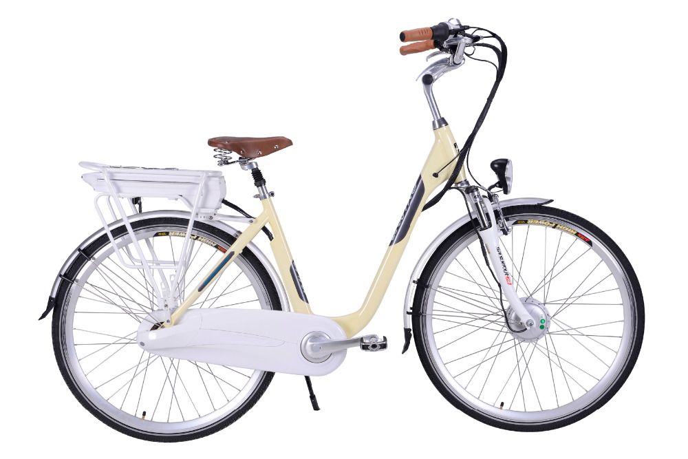electric bicycle with suspension seat post