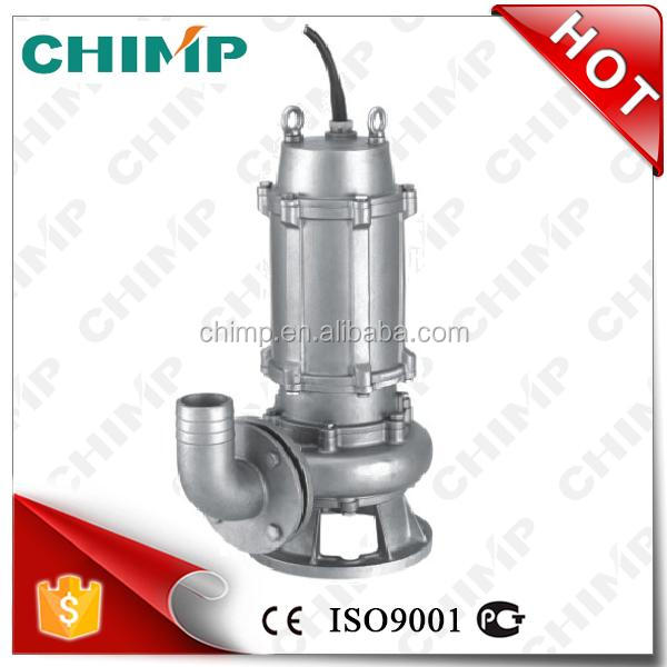 CHIMP 5HP 40m3/h WQ(JY)40-16-4G with 2 poleS motor high quality anti-corrosion stainless steel sewage submersible pump