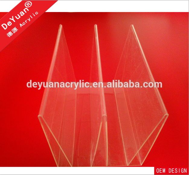 Custom clear acrylic shelf divider display stand